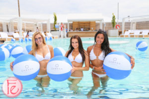 Cabana Pool Bar bikini models in pool